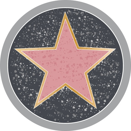 star award: Reminiscent of a Hollywood sidewalk star. Stock Photo