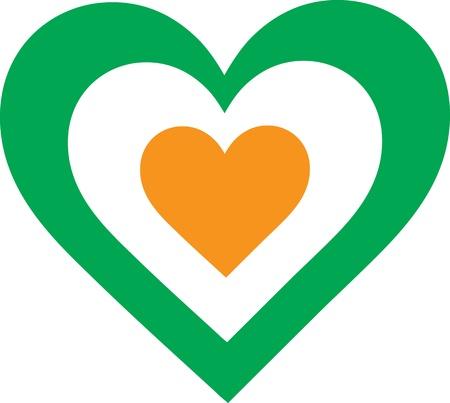 evocative: A concentric, heart shaped design, with national symbolism evocative of Ireland
