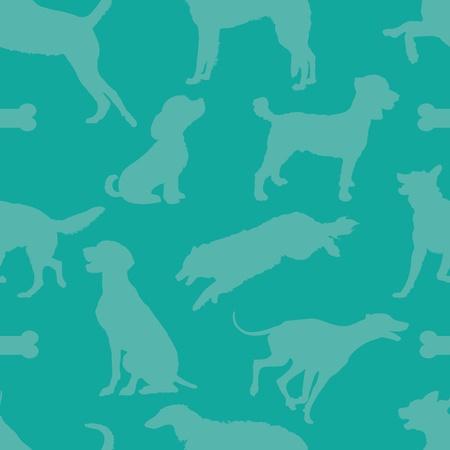 comprised: Un modello senza soluzione di continuit� composta da sagome di cani, su uno sfondo a tinta unita verde acqua