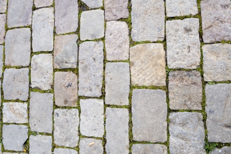Detail of stone tiles on the streets of Barcelona