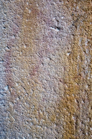Close up of the texture on a stone wall in Barcelona