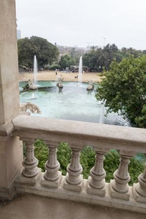 Parc de la Ciutadella - the view to the pond