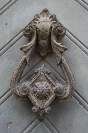 Close up of the details on a door in Barcelona