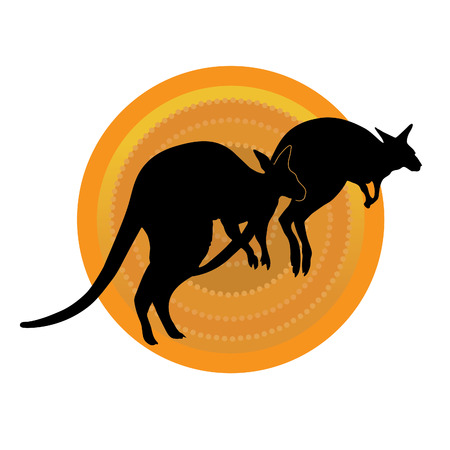 Kangaroo Sun Vectores
