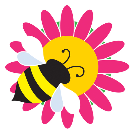 Een hommel wordt gevestigd op een mooie roze bloem
