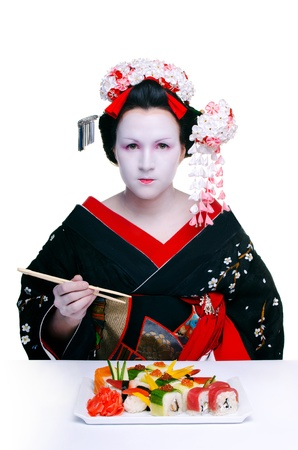 Geisha and Sushi  photo