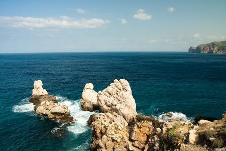 mediteranean: rocks and seaside at the mediteranean sea Stock Photo