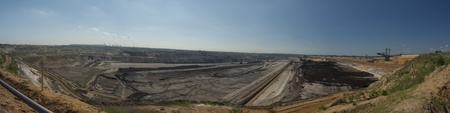industrie: surface mining panorama at Garzweiler in Germany Stock Photo