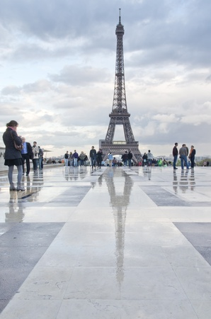 eiffel tower after rain