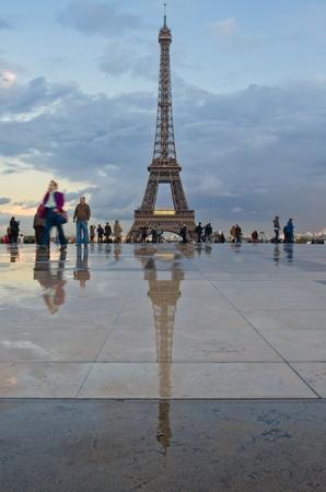eiffel tower after rain