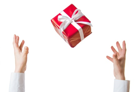 fortunate: hand throwing and catching the gift