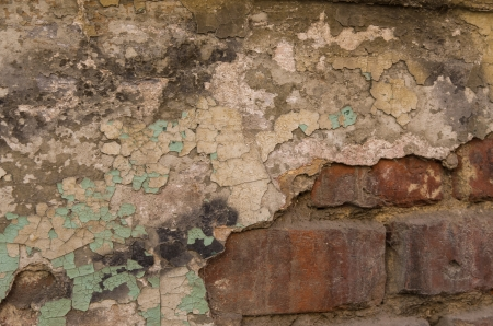 spall: stucture on an old wall Stock Photo