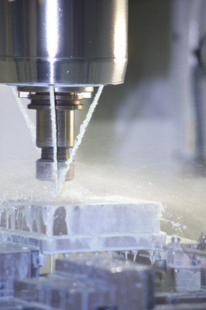 Detail Of A Milling Machine photo