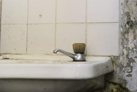 lacking: Old renewable washbasin Stock Photo