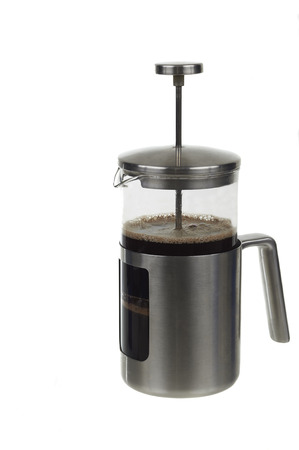 Close Up Of A Coffee PressOver White