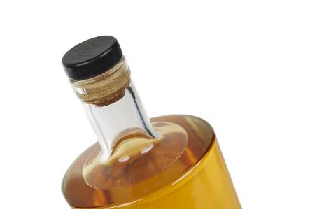 Bottle Whiskey Over With Background Standard-Bild