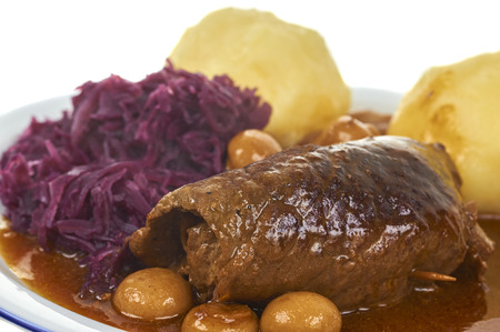 Bavarian Roulade With Dumpling And Blue Cabbage