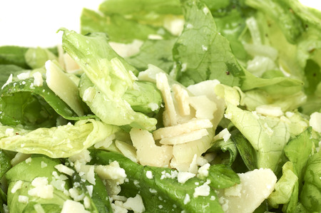 Fresh Salad With Cheese Topping Standard-Bild