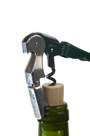 Corkscrew On A Bottle Wine
