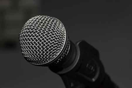 Microphone In A Studio On A Holder Standard-Bild