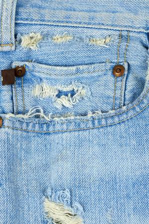 Vintage Destroyed Jeans Pocket Standard-Bild