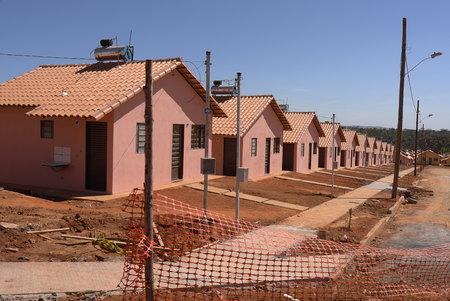 Social Building For Poor People In Brazil Standard-Bild