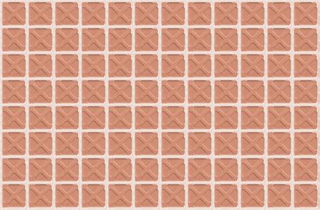 arhitecture: Square orange white croos floor tile texture background, Seamless true tone