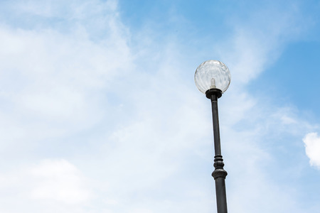 sunligh: Light pole Street light  in blue sky Stock Photo