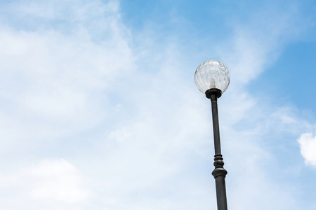 sunligh: Light post Street light  with blue sky