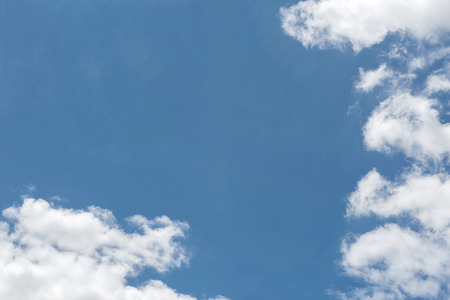 sky  clouds: sky clouds with clear blue sky background Stock Photo