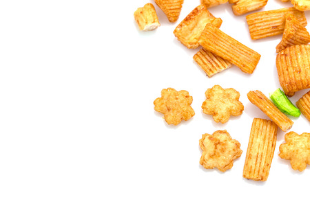asian flavors: Delicious snack thai style on white background