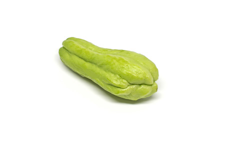 clipping: Green thai chayote isolated on white background with clipping path Stock Photo