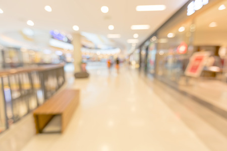 go to the shopping: Blurred people walking to go shopping in shopping mall for summer sale background