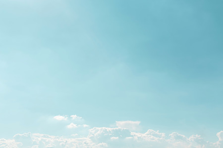 Summer white clouds in sky landscape background