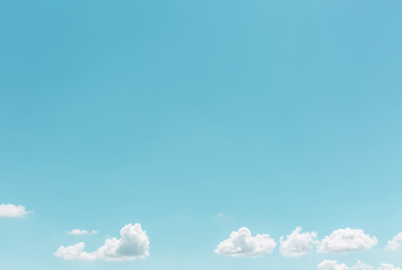 beau: Summer white clouds in sky landscape background