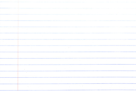 college ruled: White paper and line of notebook paper texture Stock Photo