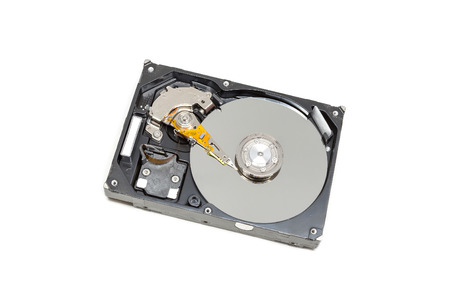 disclose: IDE Harddrive or HDD old version on white background