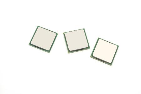 processor: CPU Processor old version on white background