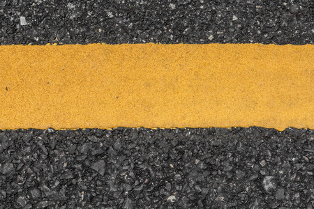 yellow line: Asphalt road texture with yellow line Stock Photo