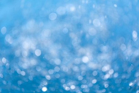 Water bokeh blue background