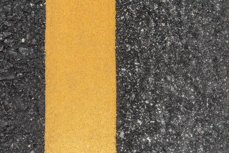 road texture: Asphalt road texture with yellow line Stock Photo