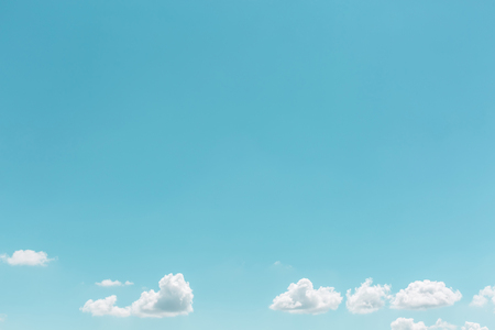 blue background: Summer white clouds in sky landscape background
