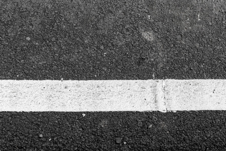 dashed: Asphalt road texture with white line Stock Photo