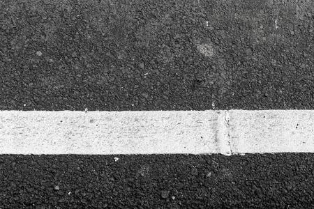 Asphalt road texture with white line Stock Photo