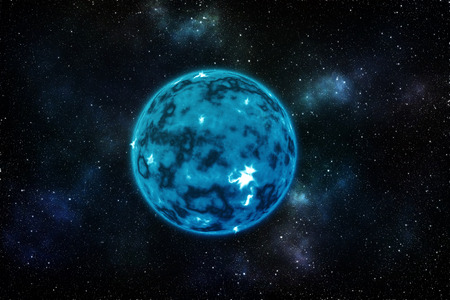 nebulosity: Blue planet with star background Elements of this image furnished by NASA