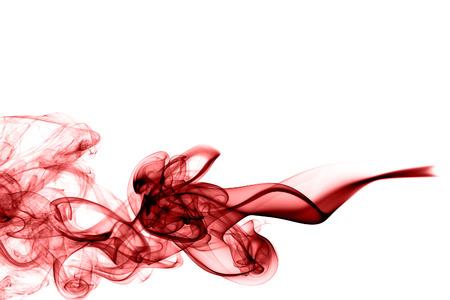 Fluffy puffs of Red black smoke Фото со стока