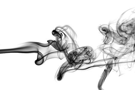 Abstract black smoke swirls over background