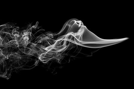 抽象的な煙黒背景 写真素材