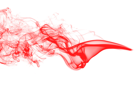 Abstract red smoke on white background Imagens