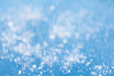 de focus: De focus water and bokeh blue background